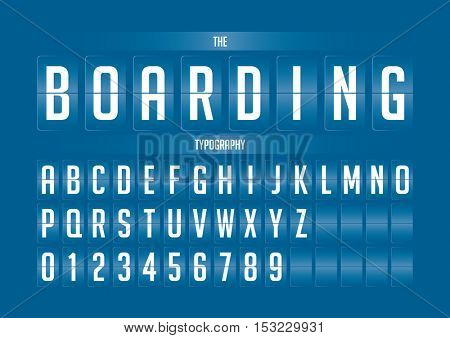 Vector of stylized flip board alphabet