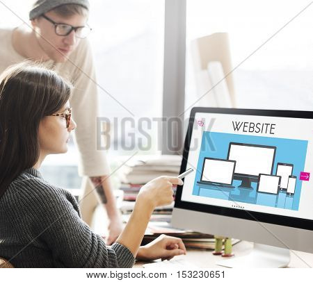 Web Design Layout Content Devices Graphic Concept