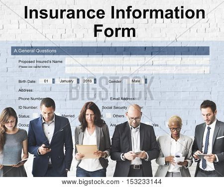 Insurance Service Information Form Concept