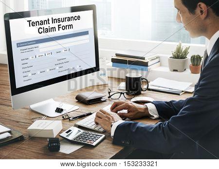 Tenant Insurance Claim Form Concept