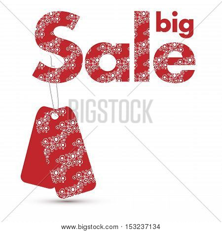 colorful vector sale sign with tags isolated over white background. Elements for your design. Eps10