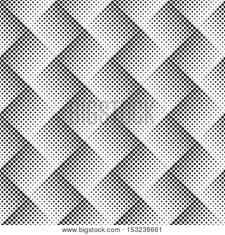 Abstract background black white halftone seamless pattern vector illustration