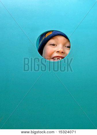 Happy boy with no milk tooth