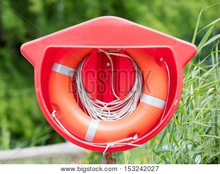 Red Life Buoy Hanging