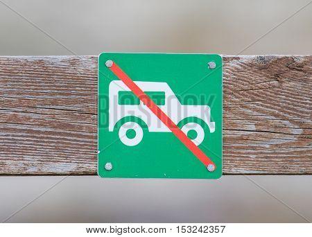 No Car Or No Parking Sign