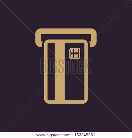 The atm card slot icon. Finance and payment, ecommerce, creditcard, banking symbol. Flat Vector illustration
