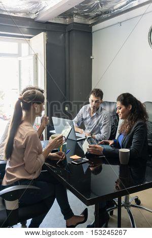 Brainstorming in creative business agency