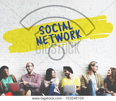 Social Network Wifi Signal Diverse People