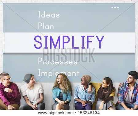 Simplify Positivity Attitude Motivation Concept