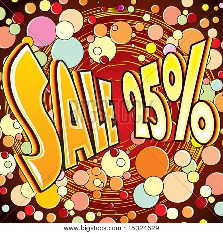 Funky Style Sale vector poster