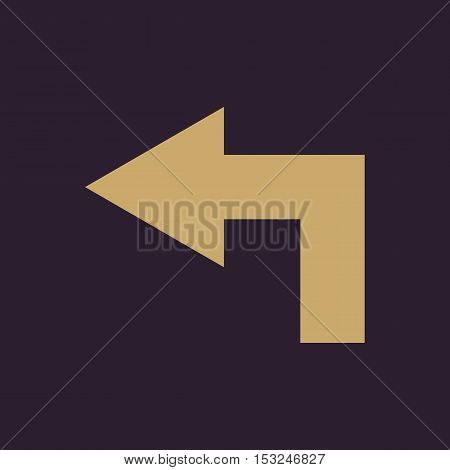 The left icon. Direction and arrow, navigation symbol. Flat Vector illustration