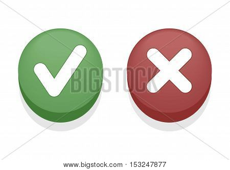 Yes or No, Approved or Reject Buttons