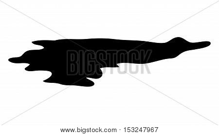 puddle silhouette vector symbol icon design. Beautiful illustration isolated on white background