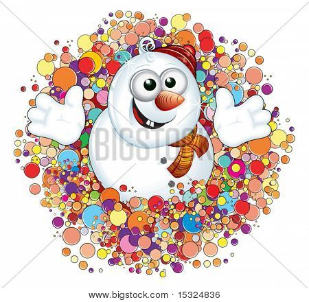 Snowman Winter Mega Sale Poster