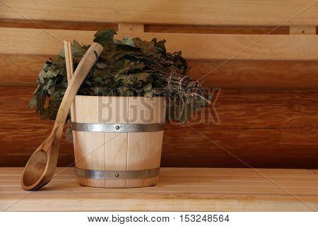 Sauna is healthy / Finnish sauna with hot dry steam