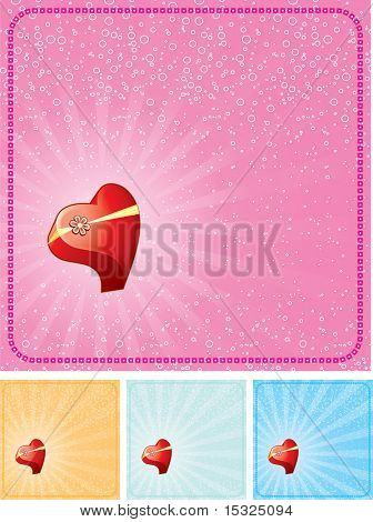 Valentine's cards vector set