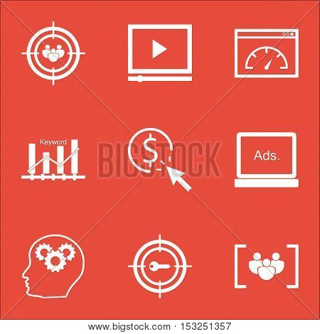 Set Of Seo Icons On Ppc, Focus Group And Keyword Marketing Topics. Editable Vector Illustration. Inc