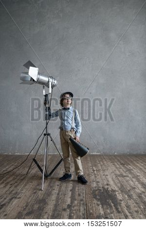 Little boy in studio