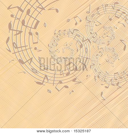 Decorative ancient music backdrop