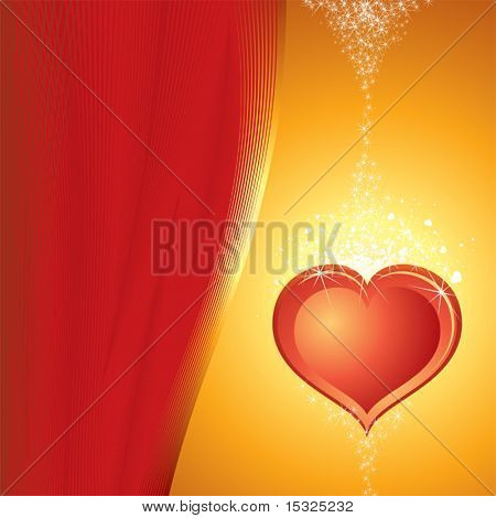 The Valentine's day vector illustration (no meshes)
