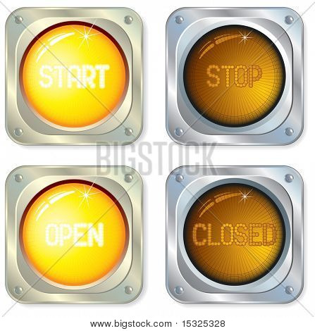 Original Audio buttons at two positions on/off  (vector id=44616199)