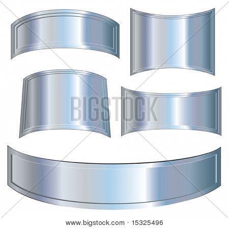 vector Metallic plates set