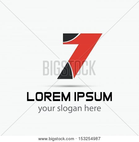 Number 7 logo. Vector logotype design template