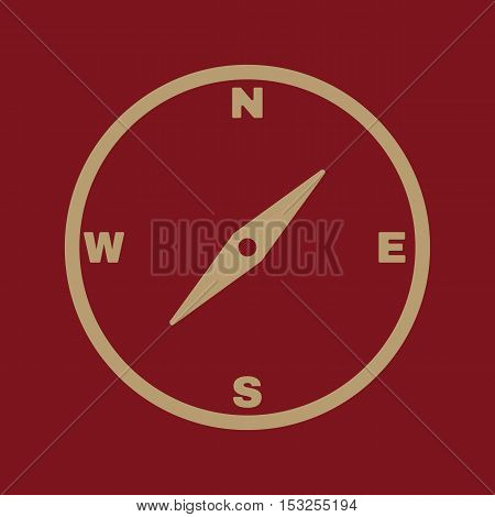 The compass icon. Compass symbol. Flat Icon