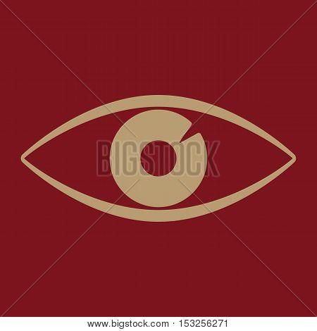 The eye icon. Eye symbol. Flat Vector illustration