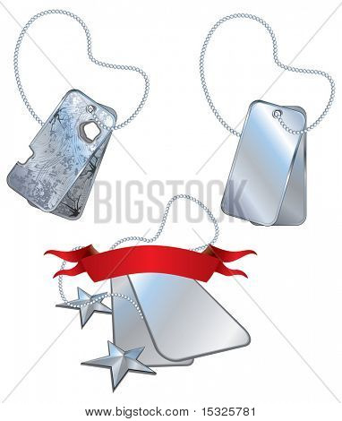 Isolated vector soldier tag