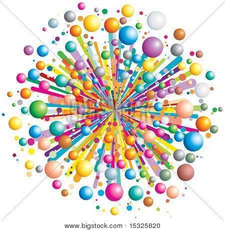 Vector colorido explotar