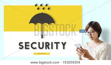 Security Protection Insured Guard Concept