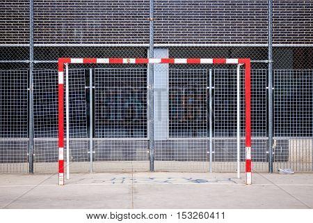 Goal Post On Urban Football Field