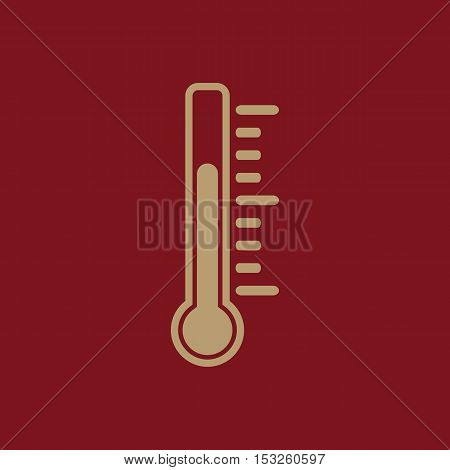 The thermometer icon. Thermometer symbol. Flat Vector illustration