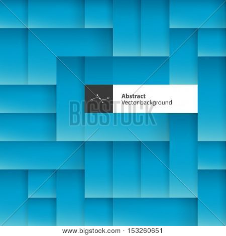 Blue abstract squares background with space for text. Vector illustration