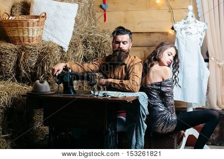 Tailor Man And Pretty Girl