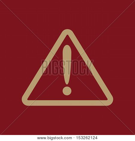 The attention icon. Danger symbol. Flat Vector illustration