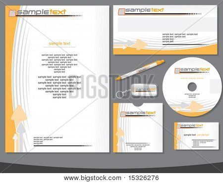 Company identity vector template easy editable (flat colors without gradients)