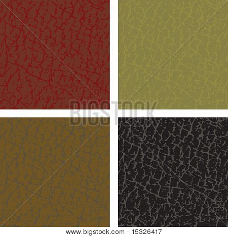 Seamless vector leather patterns-easy editable colors without gradients