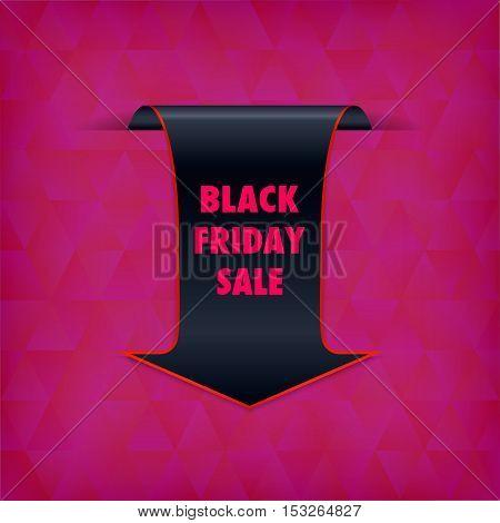 Black Friday Sale banner. Black Friday Sale black tag vector. Black friday design illustration.