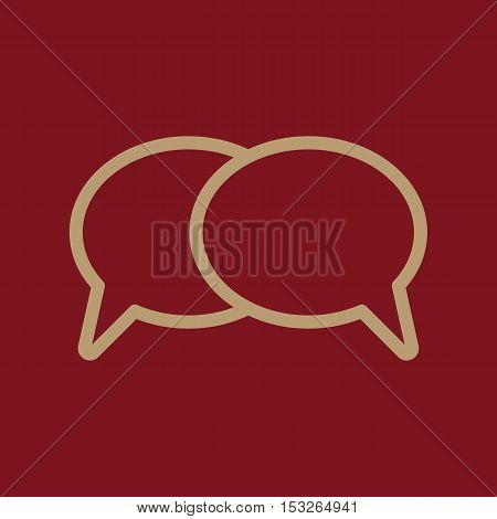 The speech bubbles icon. Talk symbol. Flat Vector illustration