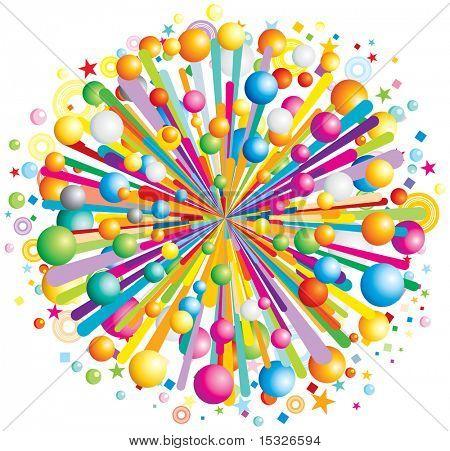Multicolor cartoon burst-vector