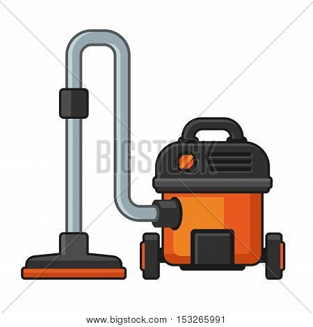 Vacuum Cleaner on White Background. Vector illustration