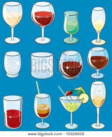 Big Collection of beverages illustrations