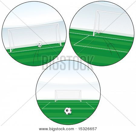 Illustration of scoring goal-vector set