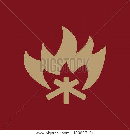The fire icon. Bonfire symbol. Flat Vector illustration