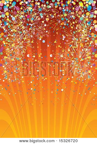 Festive vector abstract background template