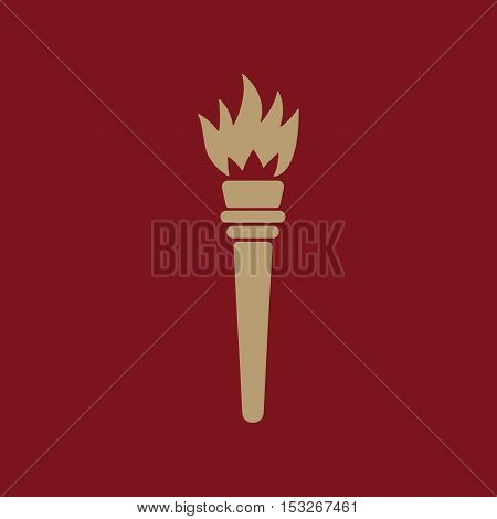 The torch icon. Torch symbol. Flat Vector illustration
