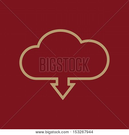 The download to cloud icon. Download symbol. Flat Vector illustration