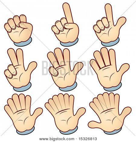 Vektor Hand zählen